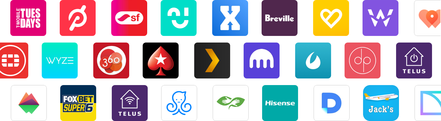 Company App Icons That Use AppReviewBot