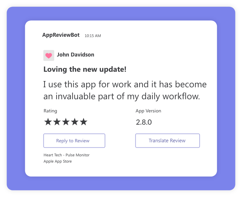 App Review in Microsoft Teams Preview
